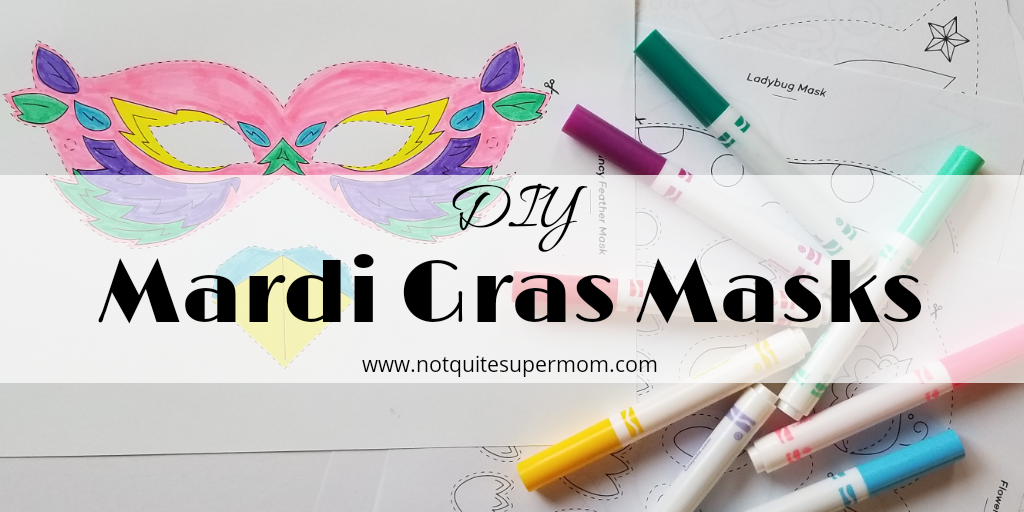 picture about Printable Mardi Gras Mask titled Do it yourself Printable Mardi Gras Masks - Not Fairly Tremendous Mother